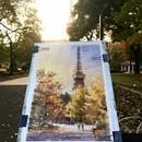 東京の風景 水彩画教室とワークショップ の講座の風景