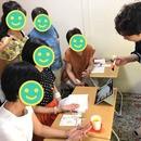 宇佐應凜の吉方位・手相ワークショップの講座の風景