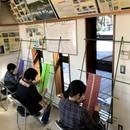 手作りハンモックの教室の講座の風景