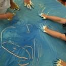 アトリエカフェイエ六本松校 子供のためのART教室の講座の風景