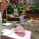 本物のお花・ビーズ・ワイヤーで作るアクセサリーの講座の風景