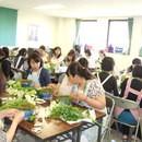 グリーン&フラワーアレンジメント教室の講座の風景