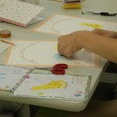 手形アート ワークショップの講座の風景
