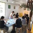 リボンレイ・リボン小物・ビジュー教室マカナアロハの講座の風景
