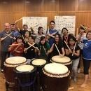 やってみよう和太鼓体験Japanese Drum の講座の風景