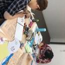 楽らく書筆文字アート教室の講座の風景