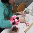 【女性たちのための】花とテーブル教室 エルチアーズの講座の風景