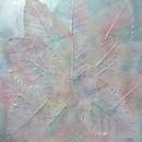 天然の葉を使い、誰でも素敵なアートが作れます。の講座の風景