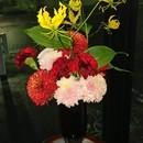 ご自宅の飾りたい場所に合わせて花レッスンをしますの講座の風景