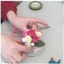 お花とお菓子の教室チェリーツリーの講座の風景