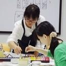 日本画いろは ストアカ教室の講座の風景