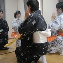 藤蔭万伊都日本舞踊教室の講座の風景