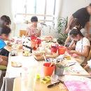 手作りライト教室「手作りdeお家ライト」の講座の風景
