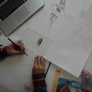 絵画教室の講座の風景