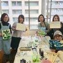 安齋洋 絵画ワークショップの講座の風景