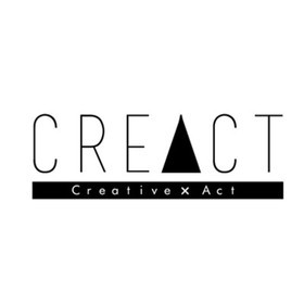 役者の為のトレーニングスタジオ「CREACT クリアクト」の団体ロゴ